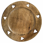 7 hearts wooden charger plate