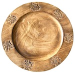 7 edelweiss wooden charger plate