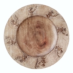 Stag wooden charger plate