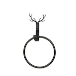 Stag towel holder