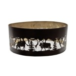 Round lamp shade with cow
