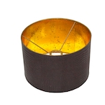 Round faux leather lamp shade