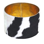 Round cow skin lamp shade