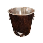 Cow skin champagne bucket