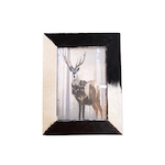 Cow skin photo frame
