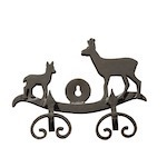 Roe deer metal hook
