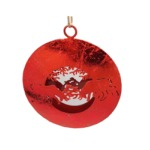 Red ball with stags to hang
