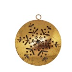 Golden ball with snowflakes to hang