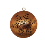 Copper ball with snowflakes to hang